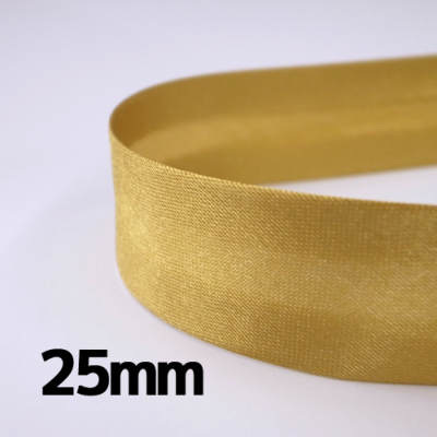 BI125-1 両折バイアステープ 25mm幅×5m巻 ゴールド