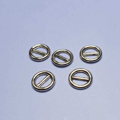 BK0021 ミニバックル 円型 ピンなし ベルト幅5mm ゴールド 5個セット