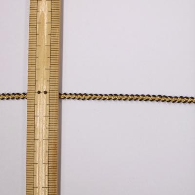 BR0295 ブレード 3mm ゴールド×ダークブラウン(金×茶) 1m単位
