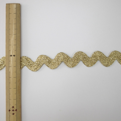 BR0391 波型ブレード 15mm ゴールド(金) 1m単位