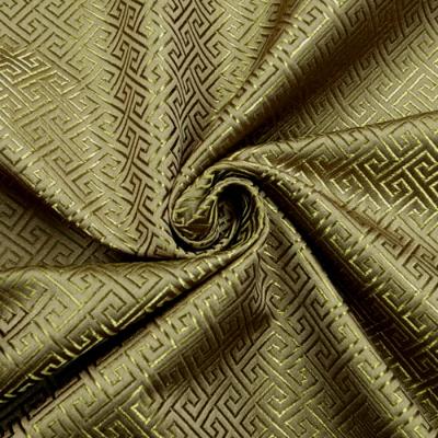 CH0404 チャイナ生地 回字紋 72cm幅 金茶(ゴールド系)