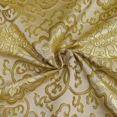 CH0503 チャイナ生地 蓮と唐草 72cm幅 ゴールド(ゴールド) ※商品名が変更となりました。