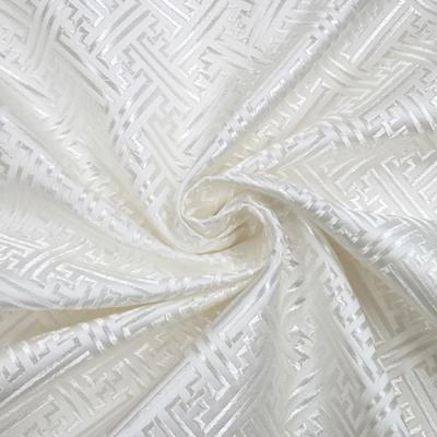 CH0612 チャイナ生地 紗綾形 72cm幅 ホワイト(白) 特価
