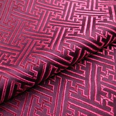CH0613 チャイナ生地 紗綾形 72cm幅 パープル系(紫系)