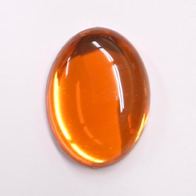 CR202-12 アクリルストーン 楕円 40×30mm オレンジ