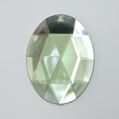 CR204-4 アクリルストーン 楕円 ダイヤカット 40×30mm ペールグリーン