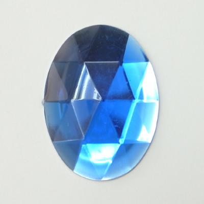 CR204-6 アクリルストーン 楕円 ダイヤカット 40×30mm ブルー