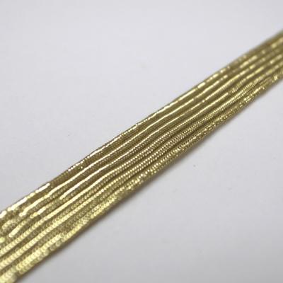 EB0101 平ゴム紐 10mm メタリック ゴールド(金)