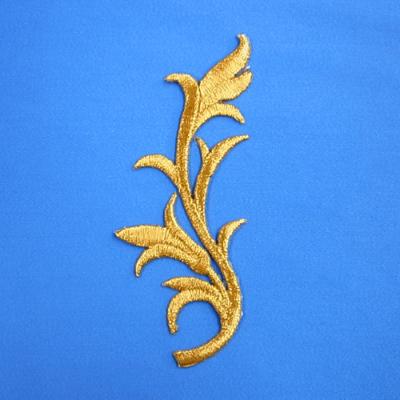 EM0101 刺繍モチーフ 130mm×53mm ゴールド(金) 特価