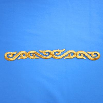 EM0111 刺繍モチーフ 37mm×270mm ゴールド(金) 特価
