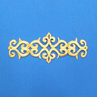 EM0181 刺繍モチーフ 190mm×76mm ゴールド(金)
