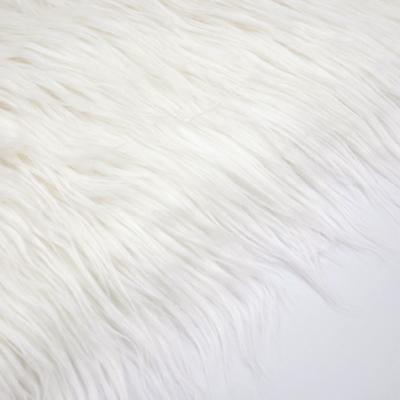 FF0401 フェイクファー 毛足8cm オフホワイト(白系) 170cm幅 10cm単位