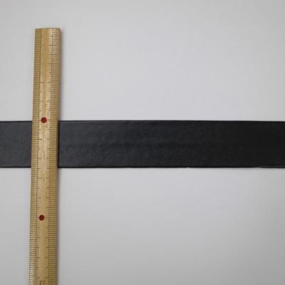 FLT0125m20 合皮テープ 両折 黒(ブラック) 25mm 一反(20m)