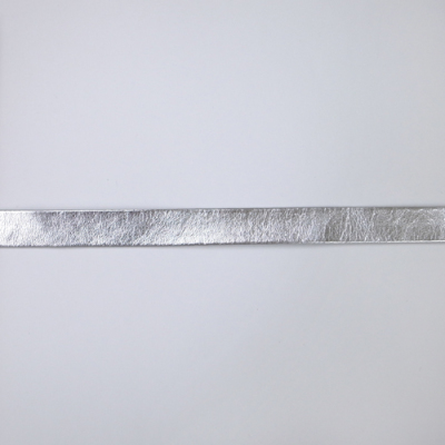 FLT0310m20 合皮テープ 両折 銀(シルバー) 10mm 一反(20m)