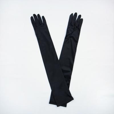 GL1011 サテン手袋 ロング51�p ブラック(黒)