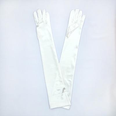 GL1012 サテン手袋 ロング51�p ホワイト(白)