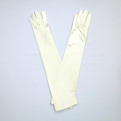 GL1013 サテン手袋 ロング51�p アイボリー(白系)