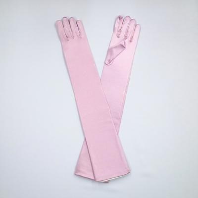 GL1014 サテン手袋 ロング51�p ライトパープル(紫系)