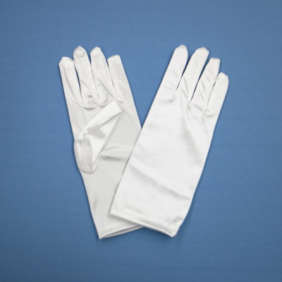 GL1021 サテン手袋 ショート23�p ホワイト(白)