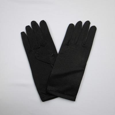 GL1022 サテン手袋 ショート23�p ブラック(黒)