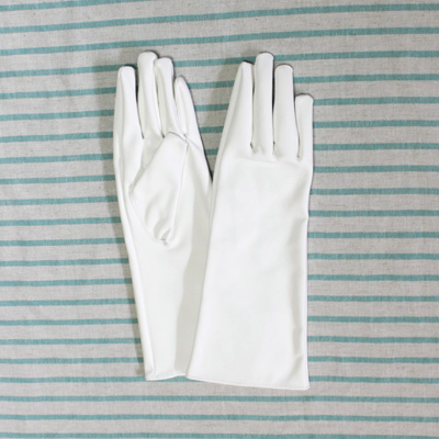 GL2011 合皮手袋 ミドル30cm ホワイト (白)