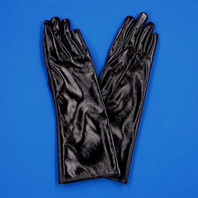 GL2012B 合皮手袋 ミドル30cm ブラック(光沢あり)