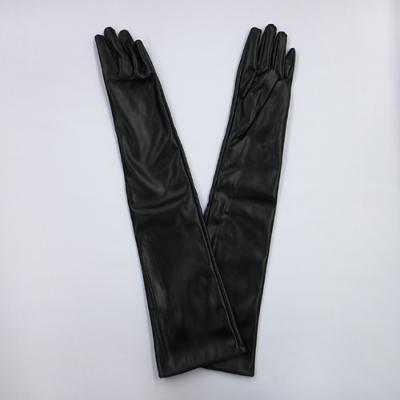 GL2023 合皮手袋 ミドルロング50cm ブラック(黒)
