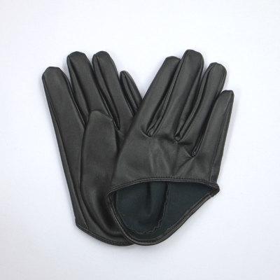 GL2041 合皮手袋 ショート16cm ブラック(黒)