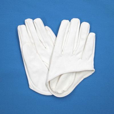 GL2042 合皮手袋 ショート16cm ホワイト(白)