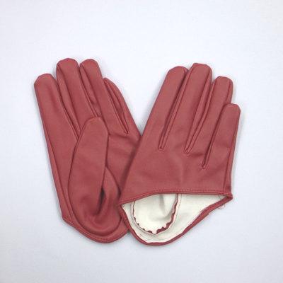 GL2043 合皮手袋 ショート16cm レッド(赤)