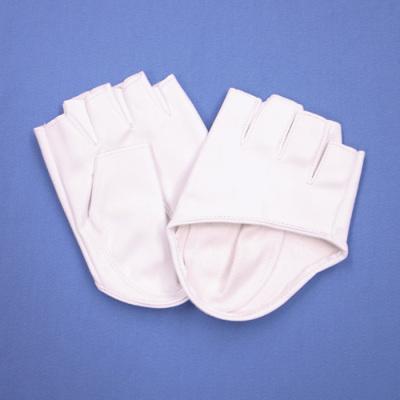 GL2051 合皮手袋 指ぬきショート12cm ホワイト(白)