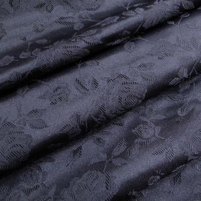 JQ0102 ジャガード生地 薔薇 ブラック(黒) 10cm単位
