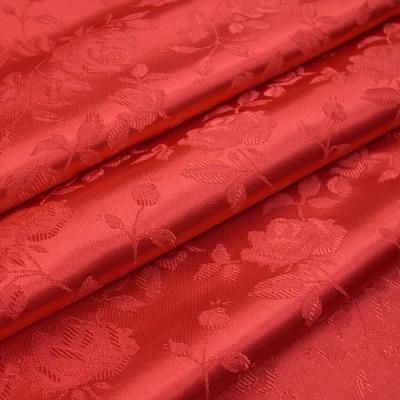 JQ0103 ジャガード生地 薔薇 レッド(赤系) 10cm単位