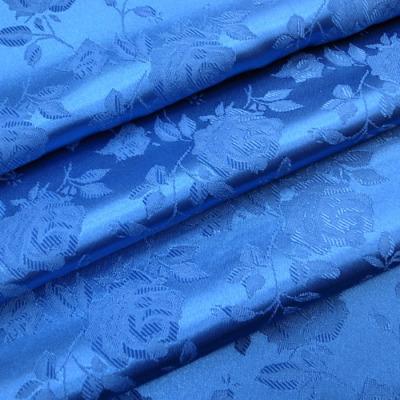JQ0105 ジャガード生地 薔薇 ブルー(青系) 10cm単位