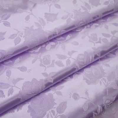 JQ0109 ジャガード生地 薔薇 ライトパープル(紫系) 10cm単位