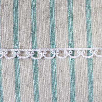 LC0140 ケミカルレース ループ 10mm幅 ホワイト