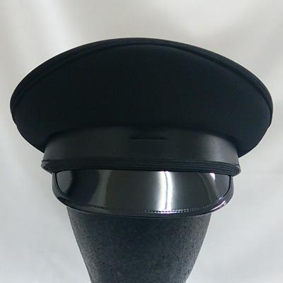 MCBA077 軍帽【タイプB】 ブラック(A-077) 頭周60cm