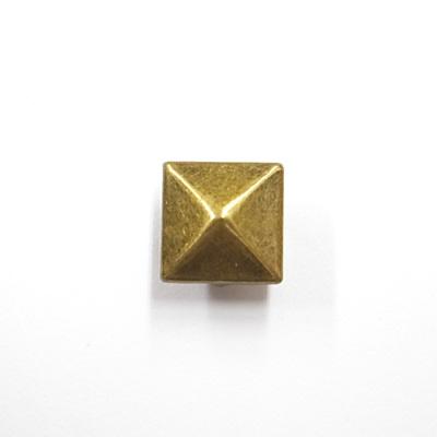ST0410 スタッズ ピラミッド型 10mm アンティークゴールド