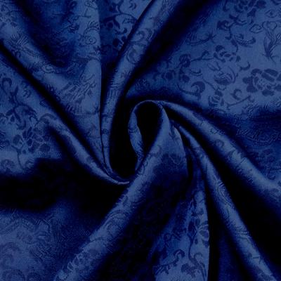ch5218 チャイナ生地 龍と花(薄手) 120cm幅 紺